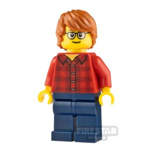 Product shot LEGO City Minifigure Plaid Flannel Shirt and Glasses