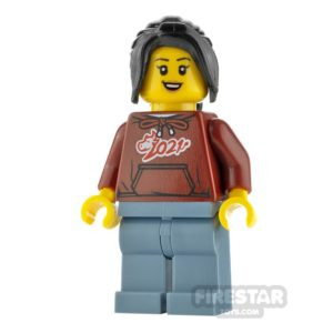 Product shot LEGO City Minifigure Woman with Ox Hoodie