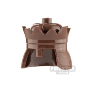 Product shot LEGO - Crown - Reddish Brown