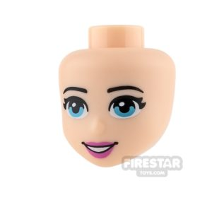 Product shot LEGO Friends Mini Figure Heads - Blue Eyes and Pink Lips