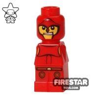 Product shot LEGO Games Microfig - Minotaurus Gladiator - Red