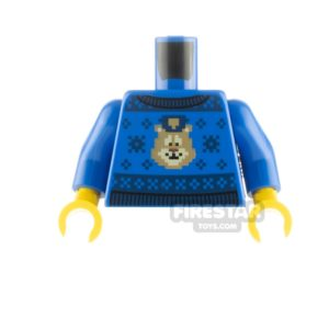 Product shot LEGO Minfigure Torso Christmas Jumper Police Animal
