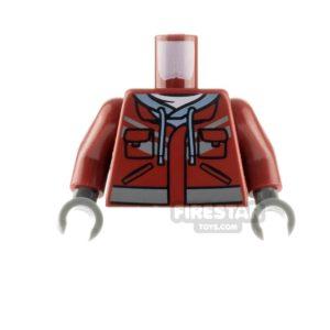 Product shot LEGO Minfigure Torso Hooded Sweatshirt