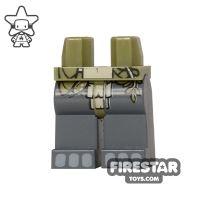 Product shot LEGO Mini Figure Legs - Gorilla - Loincloth