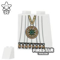 Product shot LEGO Mini Figure Legs - Long Coat with Medallion