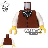 Product shot LEGO Mini Figure Torso - Brown Waistcoat