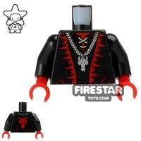 Product shot LEGO Mini Figure Torso - Dragon Wizard