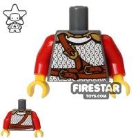 Product shot LEGO Mini Figure Torso - Lion Knight Chainmail