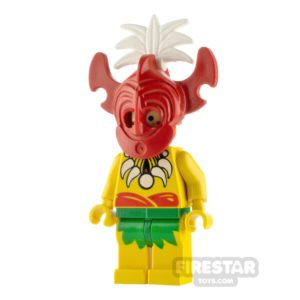 Product shot LEGO Pirate Minifigure Islander King Kahuka