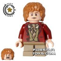 Product shot LEGO The Hobbit Mini Figure - Bilbo Baggins - Dark Red Coat