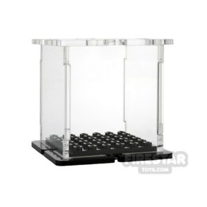 Product shot Minifigure Display Case 6x6 Black Base