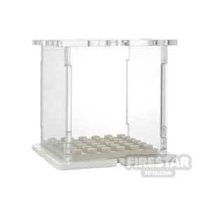 Product shot Minifigure Display Case 6x6 White Base