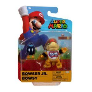 Super Mario 10cm Figure - Bowser Jr With Bob-Omb