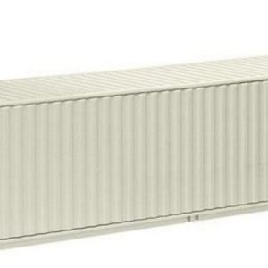 Product shot 40Ft Sea Container in White (1:50 scale by NZG NZG624-08)
