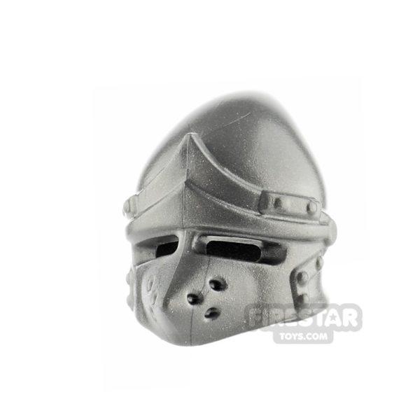 Product shot BrickWarriors - Pig Snout Helmet - Steel