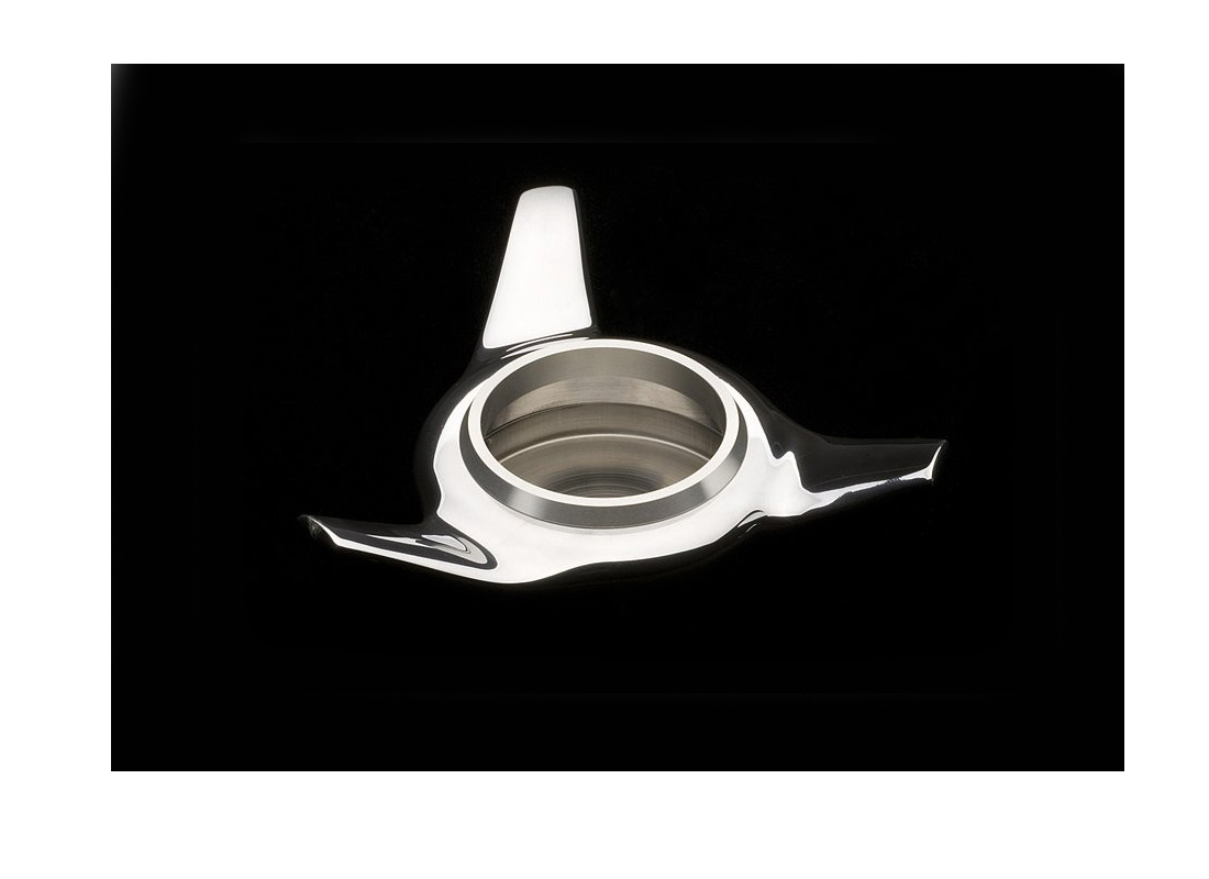 Product shot Center Lock Nut Container in Silver