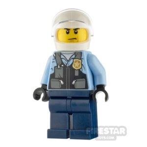 Product shot LEGO City Minfigure Police Motorcyclist with Safety Vest