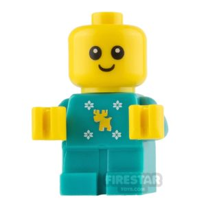 Product shot LEGO City Mini Figure - Baby in Reindeer and Snowflakes Onesie