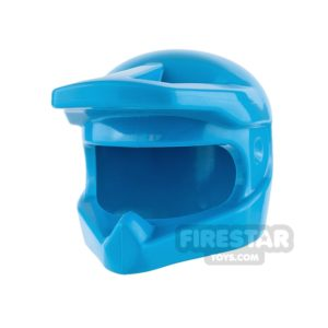 Product shot LEGO - Dirt Bike Helmet - Dark Azure