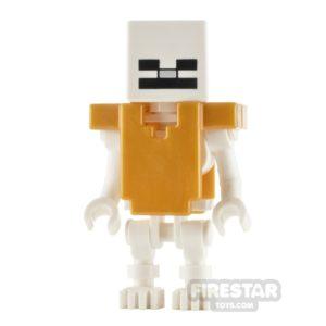 Product shot LEGO Minecraft Minifigure Skeleton with Cube Skull