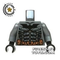 Product shot LEGO Mini Figure Torso - Batman Dark Gray Suit