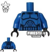 Product shot LEGO Mini Figure Torso - Clone Trooper - Blue