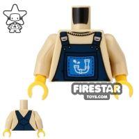 Product shot LEGO Mini Figure Torso - Plumber Dungarees