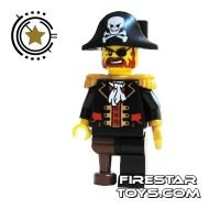 Product shot LEGO Pirate Mini Figure - Captain Brickbeard