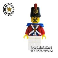 Product shot LEGO Pirate Mini Figure - Imperial Soldier II - Black Goatee