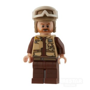 Product shot LEGO Star Wars Mini Figure - Rebel Trooper - Dark Tan Helmet