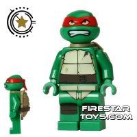 Product shot LEGO Teenage Mutant Ninja Turtles Mini Figure - Raphael - Bared Teeth