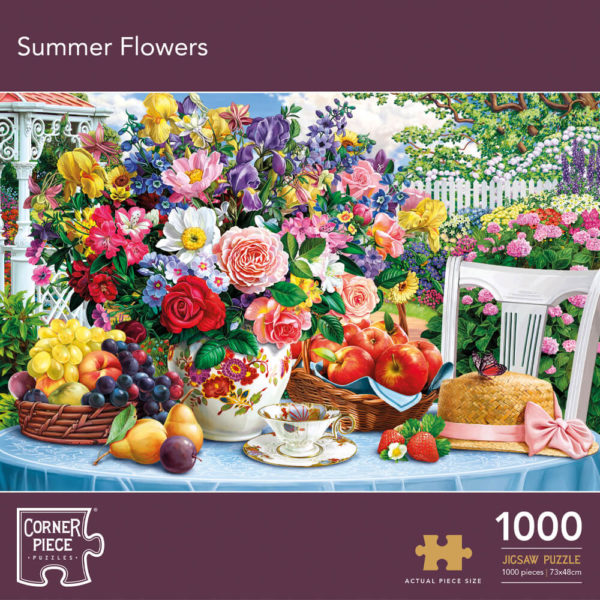 Product shot Summer Flowers 1000 Piece Jigsaw Puzzle