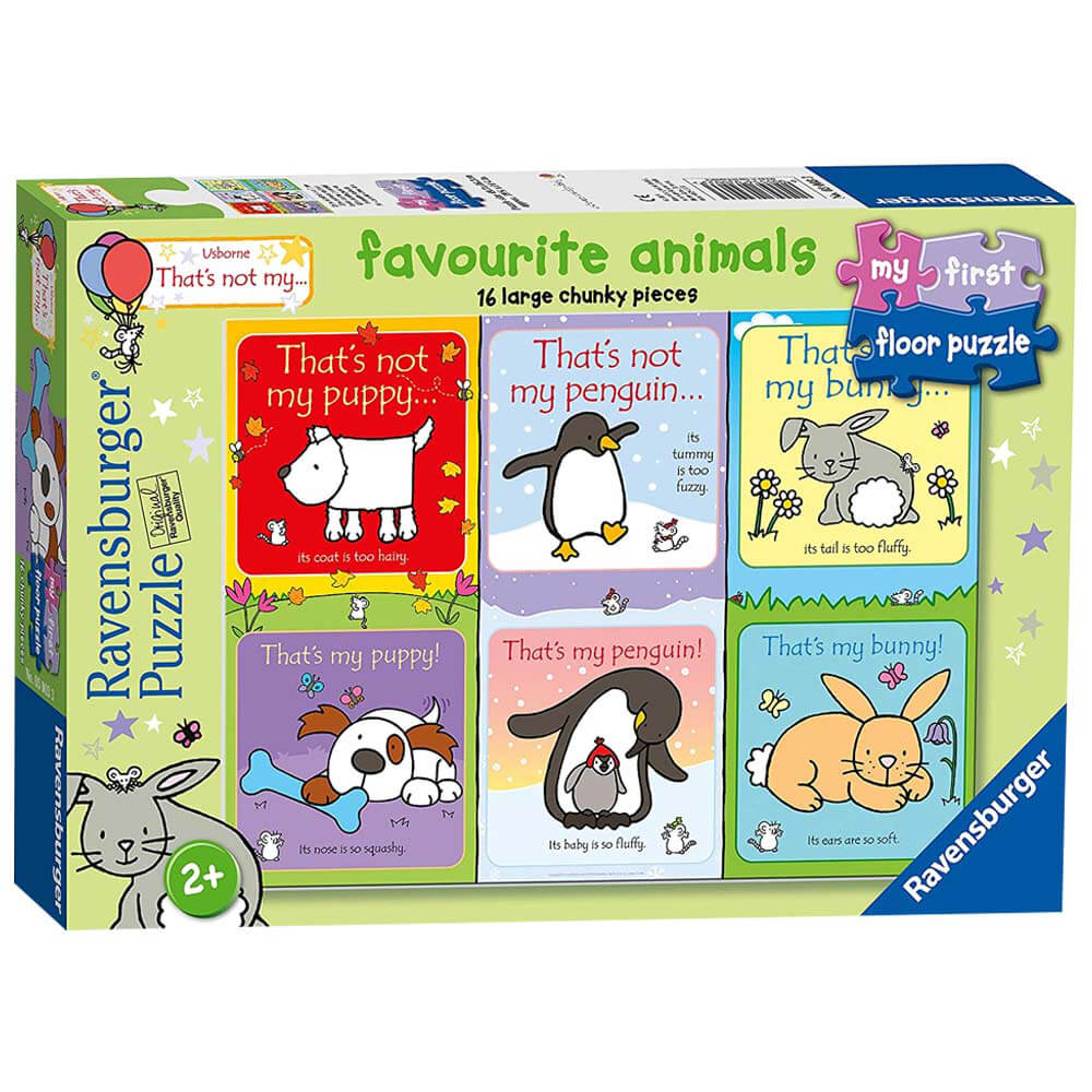 Product shot Favourite Animals 16 Piece Floor Jigsaw Puzzle