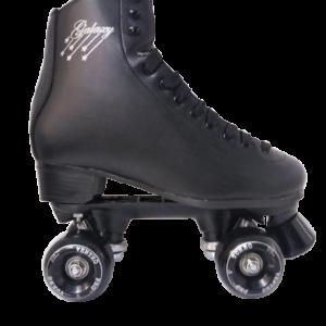 Galaxy Black Figure Roller Quad Skates - Size 4