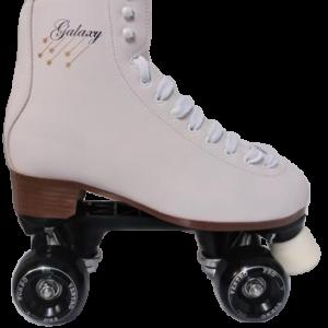 Galaxy white figure Roller Quad Skates