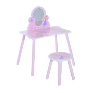 HOMCOM 2 Pc Dressing Table Set-Pink|Aosom Ireland