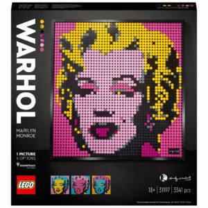 LEGO Art Andy Warhol's Marilyn Monroe Set for Adults (31197)