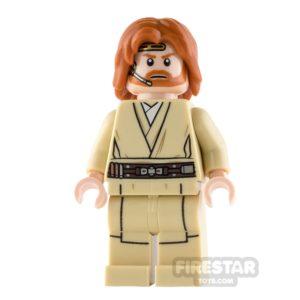 Product shot LEGO Star Wars Mini Figure - Obi-Wan Kenobi - Mid Length Tousled Hair