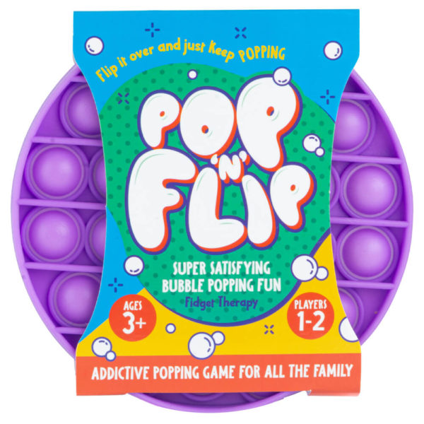 Product shot Pop 'N' Flip Bubble Popping Fidget Game: Assorted Circle