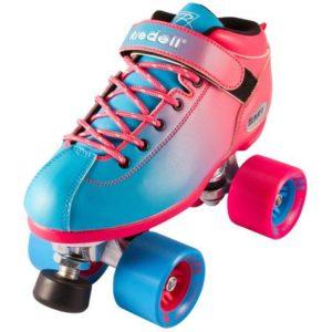 Riedell Dart Pink / Blue Roller Skate - Kids