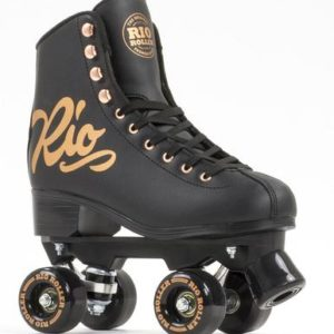 Rio Roller Rose Quad Roller Skates - Black/Gold - Kids