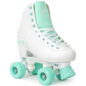 SFR Figure Quad Roller Skates White / Green - Kids
