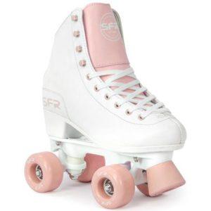 SFR Figure Quad Roller Skates - White/ Pink - Kids