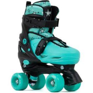 SFR Nebula Adjustable Quad Skates - Green - Kids