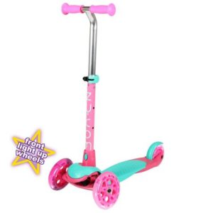 Zycom Zing Inc Light Up Wheels - Teal / Pink 3 Wheel Scooter