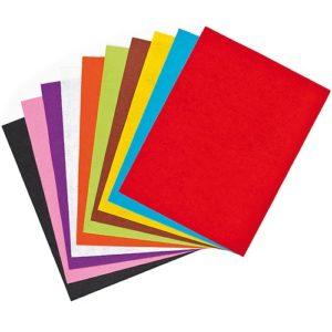 A4 Craft Felt Value Pack - 15 Sheets