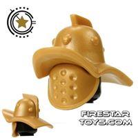 Product shot BrickForge - Gladiator Helmet And Mask - Gold