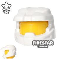 Product shot BrickForge - Halo Space Marine Helmet - White