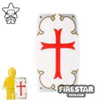 Product shot BrickForge - Military Shield - White Holy Judgement Print