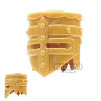 Product shot BrickWarriors - Crusader Helm - Pearl Gold